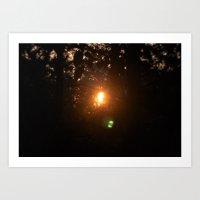 Sunrise Hike Art Print
