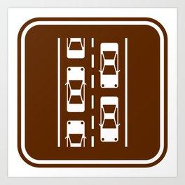 "Urban Pictograms ""Commuter"" Art Print"