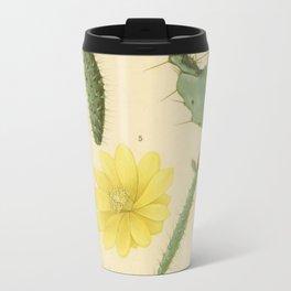 Vintage Botanical Cacti Travel Mug