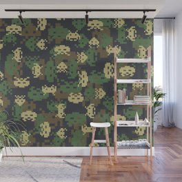 Invaded Camo WOODLAND Wall Mural