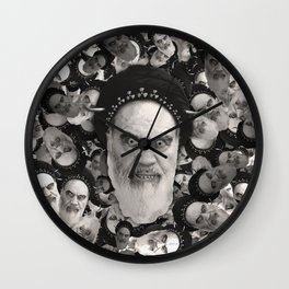 Horned Ayatollah Monsters Wall Clock