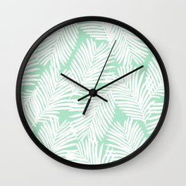 Areca Palm minimal tropical house plants minimalism art print zen chill decor Wall Clock