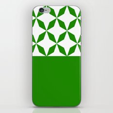 Abstract geometric pattern - green and white. iPhone Skin