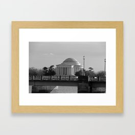Jefferson Memorial on Christmas 2017 Framed Art Print