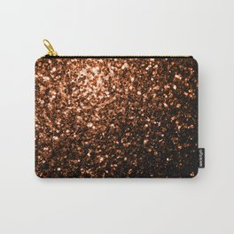 Beautiful Bronze Orange Brown glitters sparkles Carry-All Pouch