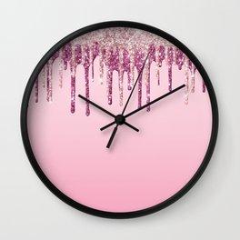Beautiful Ice Cream Drip Pattern Design Wall Clock