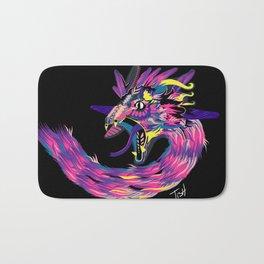 Quetzalcoatl in the dark Bath Mat
