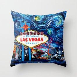 van Gogh Never Saw Vegas Throw Pillow