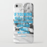 work hard iPhone & iPod Cases featuring Work Hard by ElloGovna