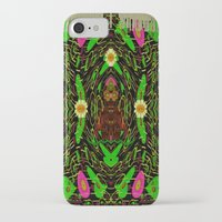 grafitti iPhone & iPod Cases featuring Lady Pandas Jungle grafitti by Pepita Selles