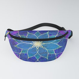 Lotus 2 - blue and purple Fanny Pack