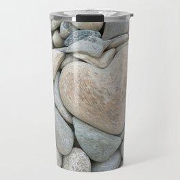 heart love stones in the quarry Travel Mug