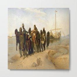 Ilya Repin's Barge Haulers on the Volga Metal Print