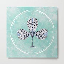 Poker Heads | Leopard Moth Metal Print