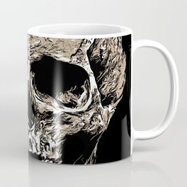 Full Skull With Rotting Flesh Vector Coffee Mug