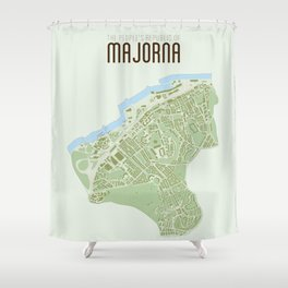 Map of the people's republic of Majorna Shower Curtain
