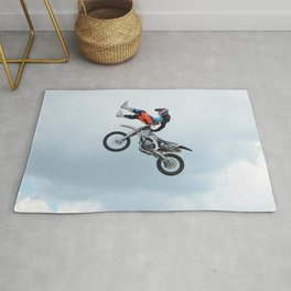 Motocross Shaolin Stunt Jump Rug