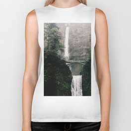 Multnomah Falls Waterfall in October - Landscape Photography Biker Tank