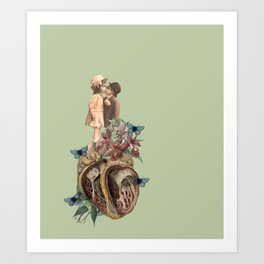 children don't grow up, our bodies get bigger but our hearts get torn up. Art Print