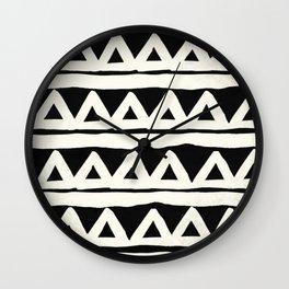 Tribal Chevron Stripes Wall Clock