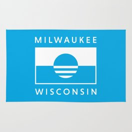 Milwaukee Wisconsin - Cyan - People's Flag of Milwaukee Rug