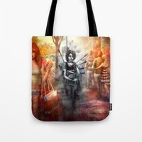 depression Tote Bags featuring Depression by Mitul Mistry