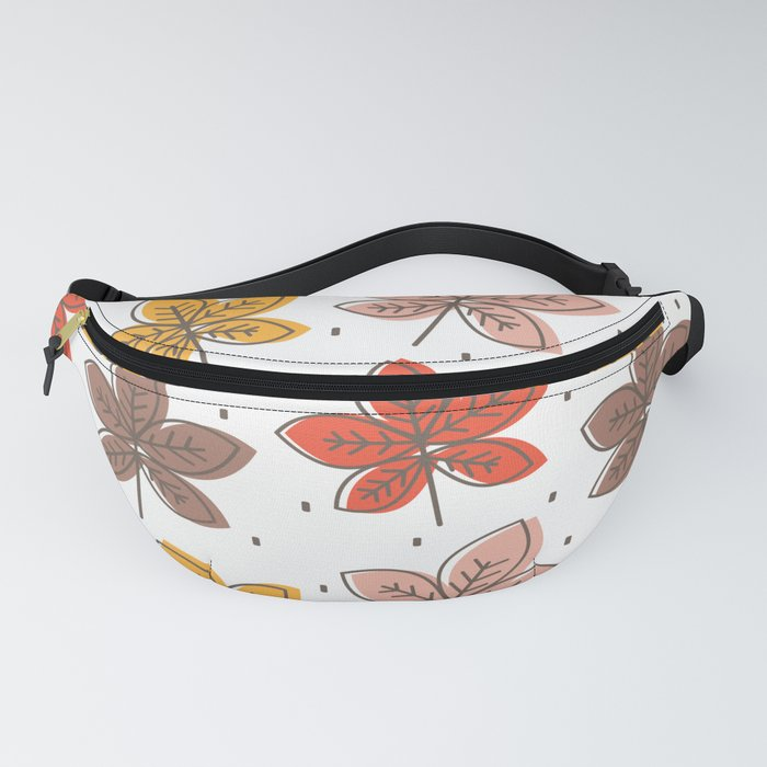 cute colorful chestnut leaves pattern background illustration Fanny Pack