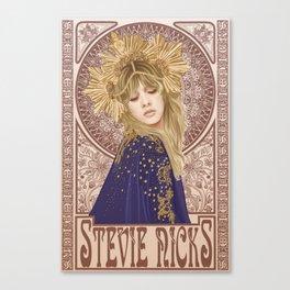Stevie Nicks Mucha Canvas Print