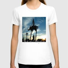 Salvador's Elephant Womens Fitted Tee White SMALL