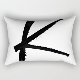 Letter K Ink Monogram Rectangular Pillow