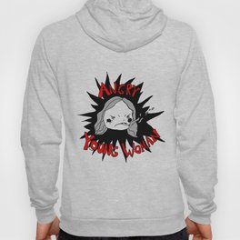 angry young woman Hoody
