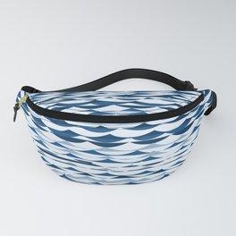 Glitch Waves - Classic Blue Fanny Pack