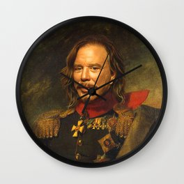 Mickey Rourke - replaceface Wall Clock