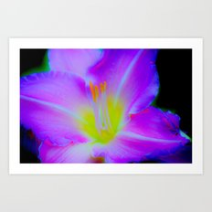 Electric Bloom Art Print