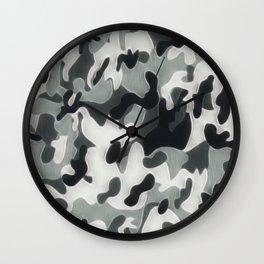 Camouflage grey Wall Clock