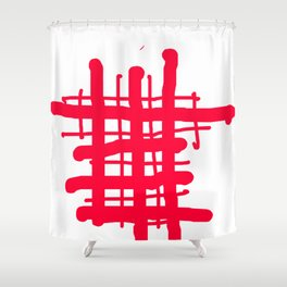 RED check Shower Curtain