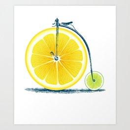 Lemon Lime and an Old Bike Art Print