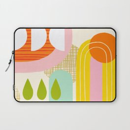 Rise and Shine - Retro Mod Abstract Design Laptop Sleeve