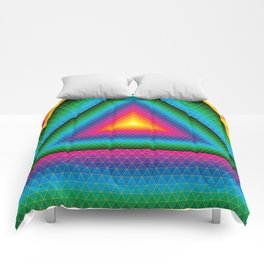 Triangle Of Life Comforters