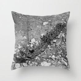 Excavator tracks Throw Pillow
