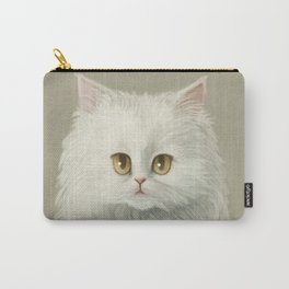 My White Cat's Face Carry-All Pouch