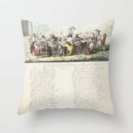 Cheerful company in the open air, Gesina ter Borch, 1658 Throw Pillow