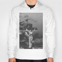 christ Hoodies featuring Jesus Christ by Kook Berry