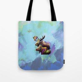 Colorful Moose Tote Bag
