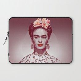Frida Kahlo Low Poly Portrait Laptop Sleeve