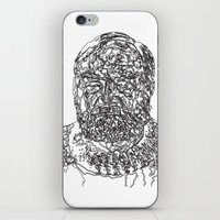 hemingway iPhone & iPod Skins featuring Hemingway by The New Minimalist