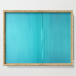 Abstract Turquoise Serving Tray