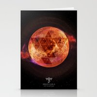 paramore Stationery Cards featuring Gravity Levels: Red Planet by Sitchko Igor