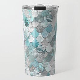 Mermaid Aqua and Grey Travel Mug