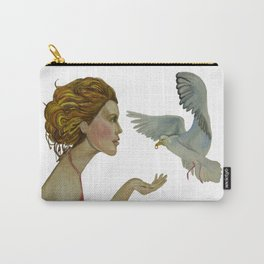 """Seagull (""""My love as the seagull is flying in the sky"""") Carry-All Pouch"""